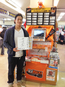 TSUTAYA今市店に「H.C.栃木日光アイスバックス」の大津夕聖選手が来店されました!